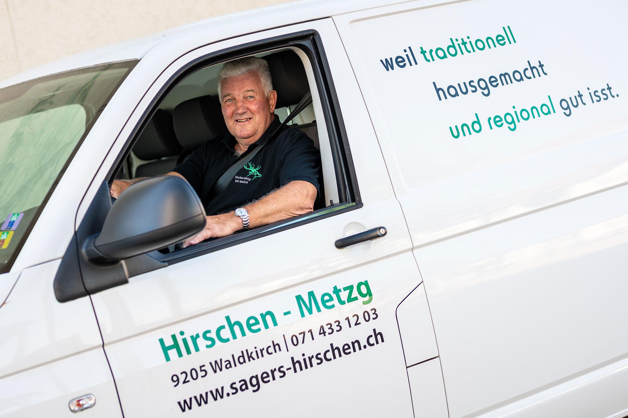 Hirschen Metzg Fleisch-Transport